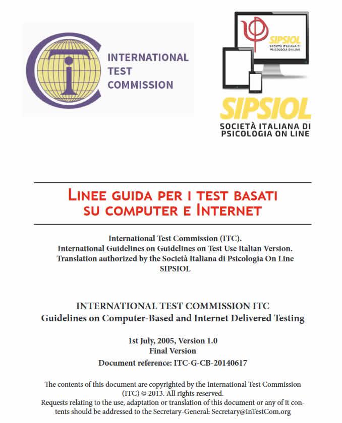 Le Linee Guida per il Testing On Line della ITC - Versione Ufficiale italiana